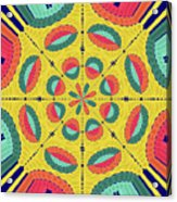 Textured Tropical Mandala Acrylic Print