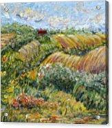 Textured Tuscan Hills Acrylic Print