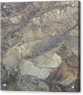 Textured Valleys Acrylic Print