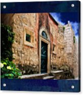 Textured Wall In  Venice Italy Acrylic Print