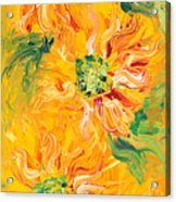 Textured Yellow Sunflowers Acrylic Print