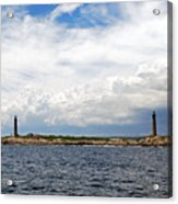 Thacher Island Twin Lights Storm Coming In Acrylic Print