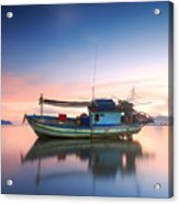 Thai Fishing Boat Acrylic Print