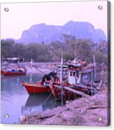 Thai Fishing Boats 05 Acrylic Print