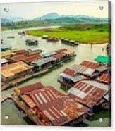 Thai Floating Village Acrylic Print