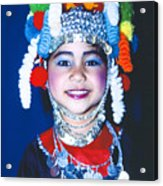 Thai Girl Traditionally Dressed Acrylic Print