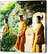 Thai Monks Acrylic Print