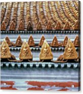 Thai Temple Roof Acrylic Print