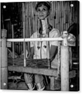 Thailands Long Neck Women Acrylic Print
