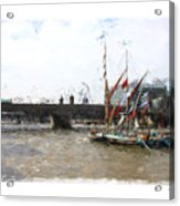 Thames Barges Acrylic Print