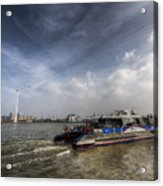 Thames Clipper And Cable Car Acrylic Print