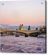 Thames Glow Acrylic Print