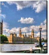 Thames River In London # 3 Acrylic Print