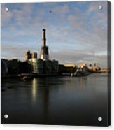 Thamse Waterfront - London Acrylic Print