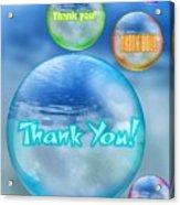 Thank You Bubbles Acrylic Print
