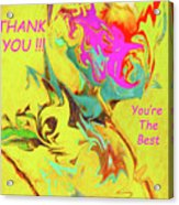 Thank You Card Abstract Lilac Breasted Roller Acrylic Print