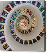 Thanks Giving Chapel Dallas Oil Paint Filter Acrylic Print