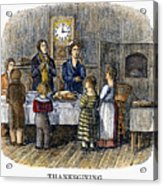 Thanksgiving, 1853 Acrylic Print