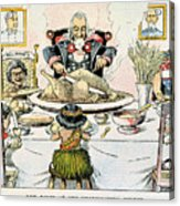 Thanksgiving Cartoon, 1898 Acrylic Print