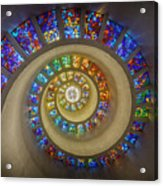 Thanksgiving Chapel Stained Glass Acrylic Print
