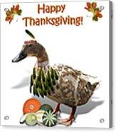 Thanksgiving Indian Duck Acrylic Print