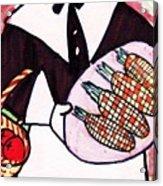 Thanksgiving Lady Pilgrim Acrylic Print