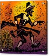 Thanksgiving Pilgrim Acrylic Print