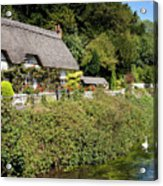Thatched Cottages Of Hampshire 16 Acrylic Print