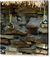 Thatched Roof Ties Acrylic Print