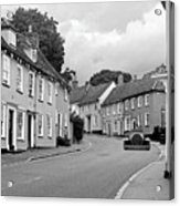 Thaxted Cottages In Black And White Acrylic Print