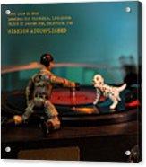 The 1-18 Animal Rescue Team - Dog On Turntable Acrylic Print