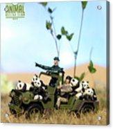 The 1-18 Animal Rescue Team - Pandas On The Savannah Acrylic Print