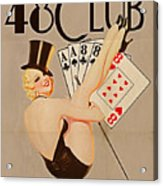 The 48 Club Acrylic Print by Cinema Photography