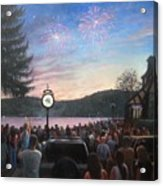 the 4th of July on Lake Mohawk Acrylic Print by Tim Maher