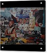 The 80 S Collage Acrylic Print