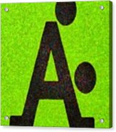 The A With Style Lime - Pa Acrylic Print