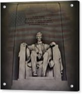The Abraham Lincoln Memorial Acrylic Print