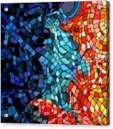 The abstract Kiss Acrylic Print