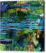 The Abstraction Of Beauty One And Two Acrylic Print by John Lautermilch
