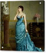 The Accomplice Acrylic Print by Auguste Maurice Cabuzel