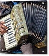 The Accordionist Acrylic Print