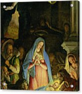 The Adoration Of The Shepherds Acrylic Print by Federico Zuccaro