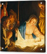 The Adoration Of The Shepherds Acrylic Print