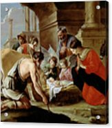 The Adoration Of The Shepherds Acrylic Print by Louis Le Nain