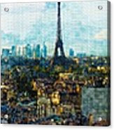 The Aesthetic Beauty Of Paris Tranquil Landscape Acrylic Print