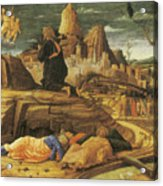 The Agony In The Garden Acrylic Print by Andrea Mantegna