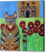 the Alamo Cat Acrylic Print
