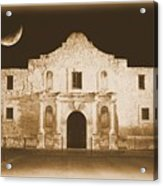 The Alamo Greeting Card Acrylic Print