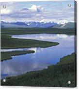 The Alaska Range Reflecting In A Lake Acrylic Print