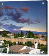 The Alhambra Palace And Albaicin At Sunset Acrylic Print